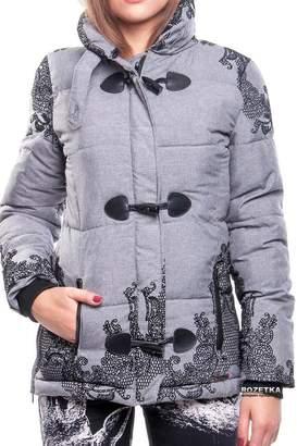 Desigual Grey Puffy Coat
