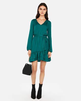 Express Ruffle Hem Elastic Waist Dress