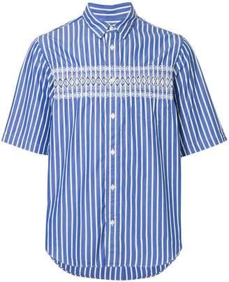 Sacai pinstripe patterned shirt