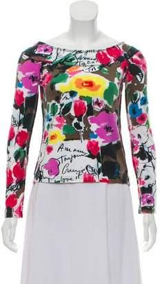 Sonia Rykiel Long Sleeve Floral Top