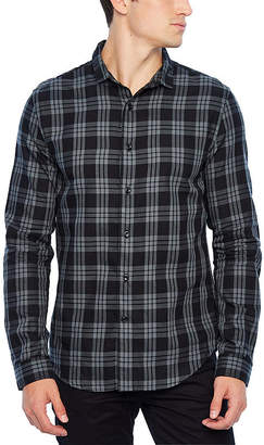 Jf J.Ferrar Long Sleeve Plaid Button-Front Shirt