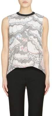 Roland Mouret Thomas Ruffled Back Silk Top