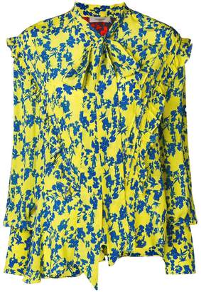 Preen Line Yasmine bow tie floral blouse