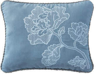 "Waterford Reversible Blossom Pewter Pillow, 16"" x 20"""