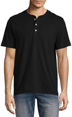 ST. JOHN'S BAY Short Sleeve Henley Shirt