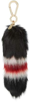 DUNE ACCESSORIES SHELBIE - Striped Faux Fur Tail Bag Charm 9dd1b73ac0ac5