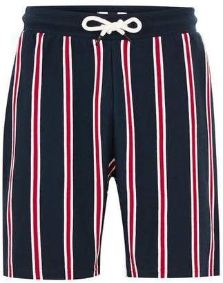 Topman Mens Red And Blue Stripe Jersey Shorts