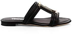 Tod's Women's Double T Leather Mule Sandals
