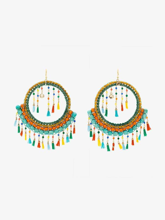Merida tassel and bead earrings