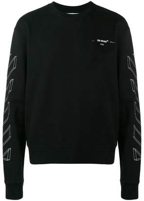 Off-White outline print sweatshirt