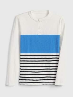 Gap Stripe Henley T-Shirt