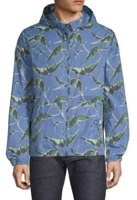 Valentino Printed Long-Sleeve Jacket