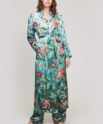 Liberty London Desert Rose Silk Satin Long Robe