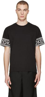 Kenzo Black Logo Sleeve T-Shirt $135 thestylecure.com