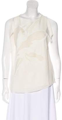 Halston Silk Embellished Blouse