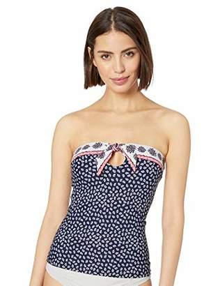 154502b84a926 Anne Cole Women's Tie Front Bandeau Tankini Swimsuit
