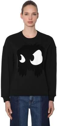 McQ Monster Flocked Cotton Sweatshirt
