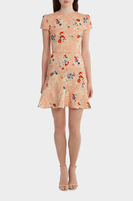Yeojin Bae YC 7942 Double Crepe Bouquet Floral Jasmine Dress