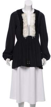 Figue Embellished Silk Blouse