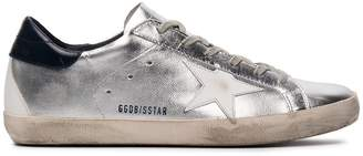 Golden Goose Silver superstar leather sneakers