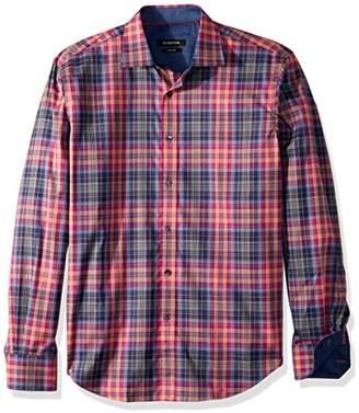 Bugatchi Men's Cotton Shaped Fit Regular Placket Shirt
