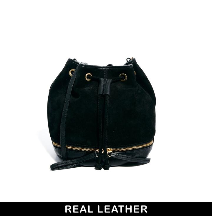Asos Leather Zip Based Duffle Bag