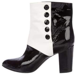 Chanel CC Bicolor Ankle Boots