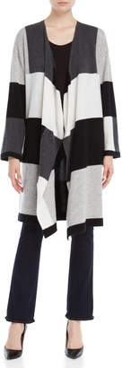 Ply Cashmere Color Block Open Duster Cardigan