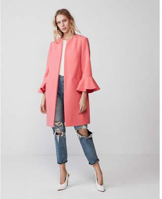 Express double weave flutter sleeve coat