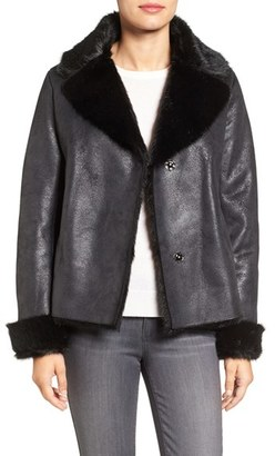 Women's Vince Camuto Faux Shearling Coat $268 thestylecure.com