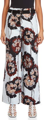 Alysi Printed Belted Wide Leg Pants