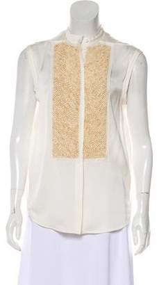 3.1 Phillip Lim Embellished Button-Up Blouse