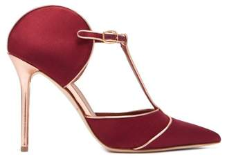 Malone Souliers By Roy Luwolt - Imogen Satin Mules - Womens - Burgundy