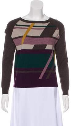 Max Mara Weekend Scoop Neck Printed Sweater