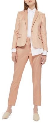 Women's Topshop Metallic Glitter Suit Trousers $85 thestylecure.com