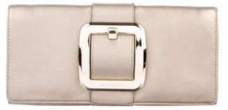 MICHAEL Michael Kors Metallic Grained Leather Clutch