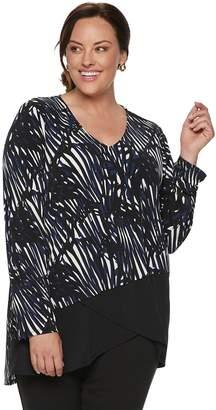 Dana Buchman Plus Size Asymmetrical Hem Knit Tunic