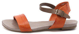 Django & Juliette New Jinnit Orange Taupe Womens Shoes Casual