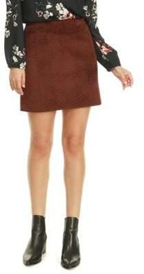 Dex Plush Quilted Mini Skirt