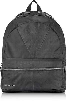 Jimmy Choo Reed JIC Black Canvas and Woven Nylon Backpack