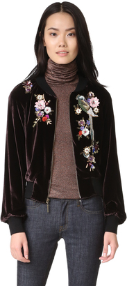 Nanette Lepore Aviary Bomber Jacket $648 thestylecure.com