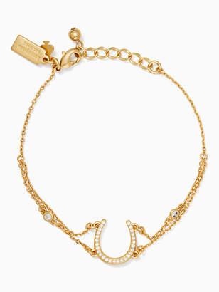 Kate Spade Wild ones pave horseshoe bracelet