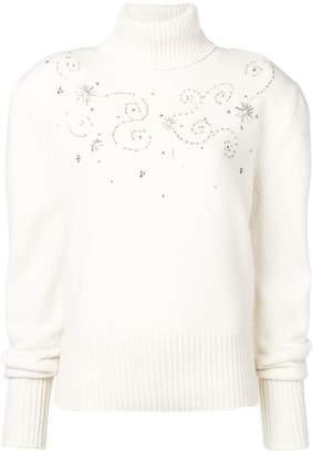 Magda Butrym embellished turtleneck sweater