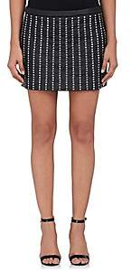 Philosophy di Lorenzo Serafini WOMEN'S EMBELLISHED LEATHER MINISKIRT - BLACK 555 SIZE 40 IT