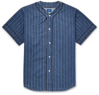 Beams Striped Denim Shirt