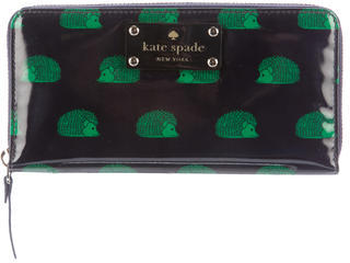 Kate Spade Kate Spade New York Patent Leather Zip-Around Wallet