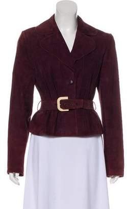 Christian Dior Suede Notch-Lapel Jacket