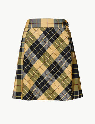 Marks and Spencer Checked A-Line Mini Skirt