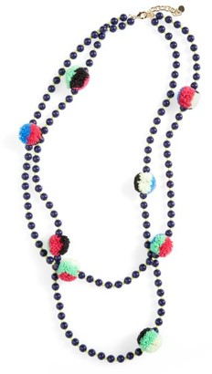 Women's Baublebar Guadeloupe Pompom Necklace $34 thestylecure.com