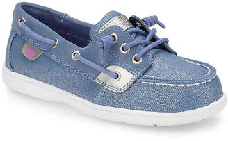 Sperry Shoresider Toddler & Youth Boat Shoe - Girl's